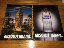 Absolut MIAMI City Collection Condo Bottle Absolut Vodka Print art Ad 1999 - $3.99