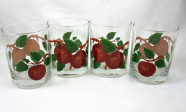 Franciscan China Apple 4 Glasses Old Fashioned Glassware Tumblers On the... - $29.99