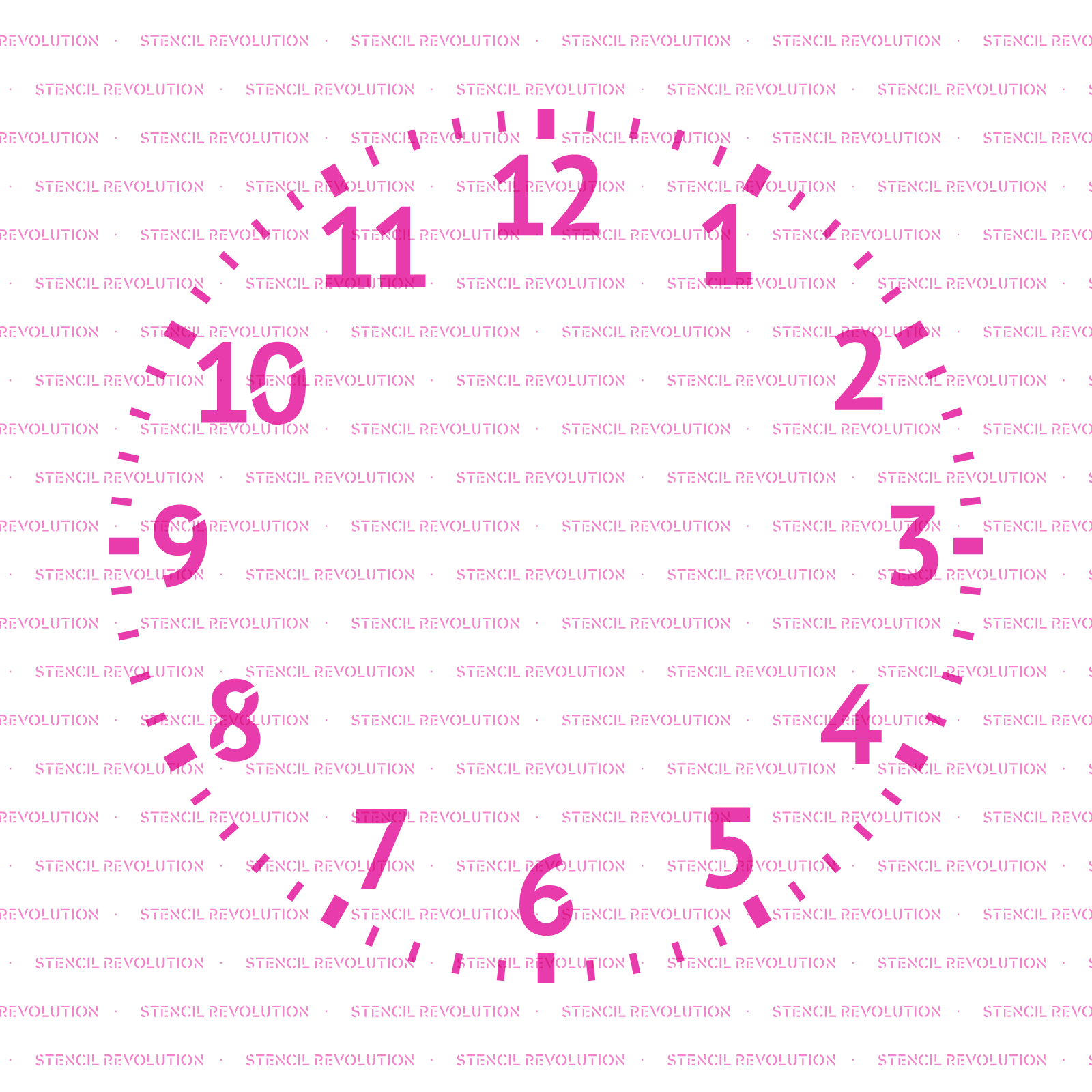 Clock Stencil - Reusable Stencils of a Clock Available in Small & Large Sizes