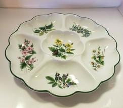 """Royal Worcester Fine Porcelain 13 1/2"""" Sectional Snack/Dip Crudite Dish - $29.69"""