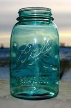 ERROR ! ? Ball Mason quart blue canning jar. Reversed 5 on bottom. - $24.74