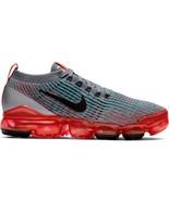 Womens Nike Air VaporMax Flyknit 3 Flash Crimson Black Cool Grey Blue AJ... - $154.99