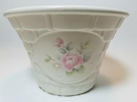 Pfaltzgraff Tea Rose Stoneware Basket Planter No Handle Vintage USA - $13.81