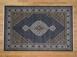 "6'x9'1"" Wool and Silk Hand Knotted 250 Kpsi Mahi Village Rug G43067 - $967.82"