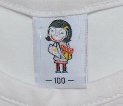 Cute Princess White Cap Sleeve Shirt Large Yellow Brown Flower Size 3 to 4 Yr image 4