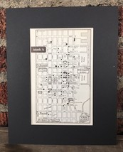 "City Map of Jacksonville Florida 1958 Mid Century Black Matted 8""x10"" Ar... - $18.70"
