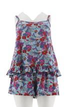 Fit 4 U Ruffle Cami Tankini Swimsuit Short Peri 12 NEW A304229 - ₹3,689.28 INR