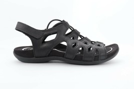 Abeo Women's Bina Sandals Black Size 7 Neutral Footbed  (EPB)4099 - $86.00