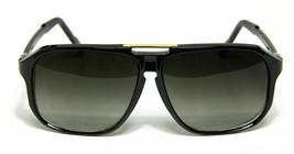 Evidence Aviator Sunglasses Black Vintage Flat Top Hip Hop Big Turbo Retro - $12.56