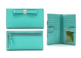 Kate Spade Montford Park Smooth Leather Stacy Wallet Light Green WLRU213... - $89.09