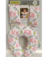 Travel Pillow & Seat Belt Covers Pink Elephants by Blankets & Beyond - $9.99