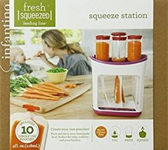 Baby Homemade Food Squeeze Station AND 50 Pouches 4oz Perfect for the Go... - $48.52