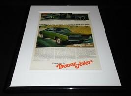 1968 Dodge Charger R/T Framed 11x14 ORIGINAL Vintage Advertisement - $41.71