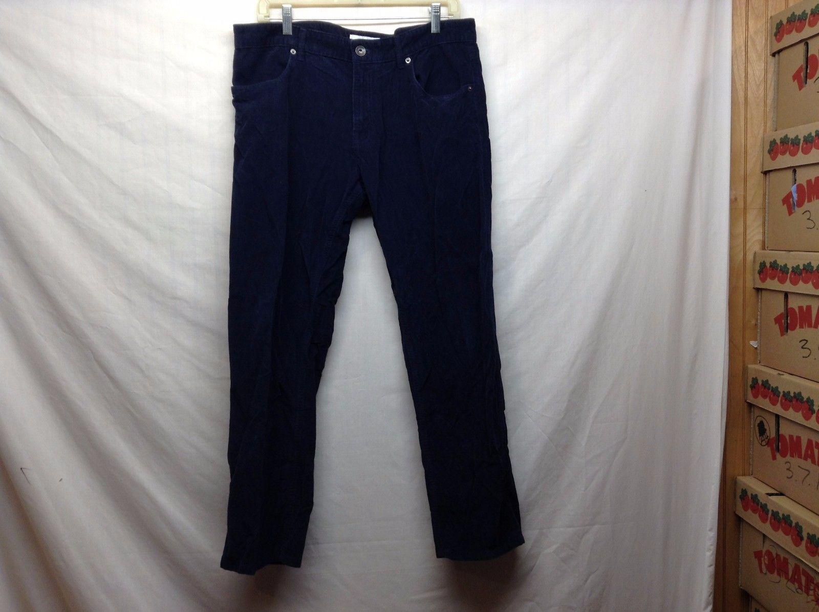 Calvin Klein Navy Blue Corduroy Slimfit Pants Sz 36/30