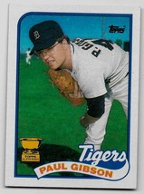 1989 Topps Baseball Card, #583, Paul Gibson, Detroit Tigers, Rookies, Topps Cup - $0.99