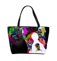 Classic Shoulder Handbag Purse Bag Dog 135 Boston Terrier Digital pop ar... - $49.99