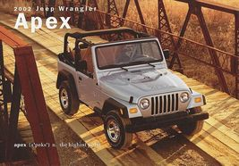 2002 Jeep WRANGLER APEX sales brochure sheet 02 4WD - $8.00