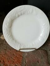 Tabletops Unlimited Fruit De Blanc Salad Plate~1995~white  fruit embosse... - $9.85