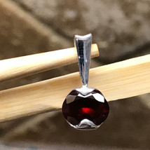 Natural 1.5ct Pyrope Garnet 925 Solid Sterling Silver Pendant 18mm long - $49.49
