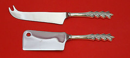 CREST OF ARDEN BY TUTTLE STERLING SILVER CHEESE SRVR SERVING SET 2PC HHWS CUSTOM