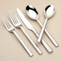 Dansk 5 Piece Place Setting Metal Stainless Ste... - $46.52