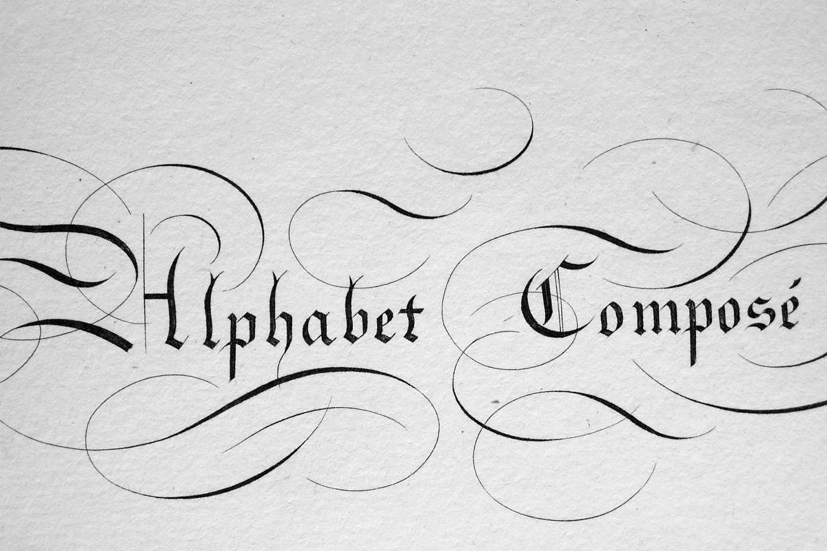 "1826 PENMANSHIP Calligraphy Composite - 12"" x 18"" (30 x 46 cm) Superb Print #8"