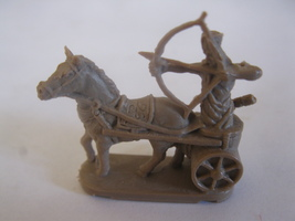 2003 Age of Mythology Board Game Piece: .Egyptian Chariot Archer Unit - Brown  - $1.00