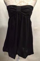 Anthropologie SILENCE + NOISE Balloon Hem Black Strapless Dress Top Size... - $23.99