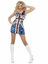 Fever All That Glitters Rule Britannia Union Jack Womens Halloween Costu... - $59.42