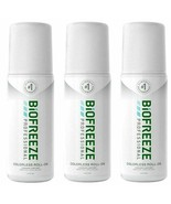 New Biofreeze Professional COLORLESS 3oz Roll On - Pack of 3 - $25.43