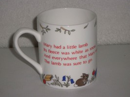 Vintage 1989 Hudson Middleton Childs Mug Cup Mary Had a Little Lamb - $29.69