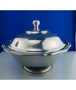 """Wilton Footed Queen Anne Covered Pewter 10""""  Vegetable Serving Bowl w/lid - $68.31"""