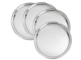 High Quality Stainless Steel Dinner Plate Set of 10 pcs - Free Shipment - $51.03