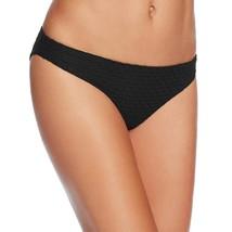 Shoshanna Textured Classic Bikini Bottom, Black, S - $26.77