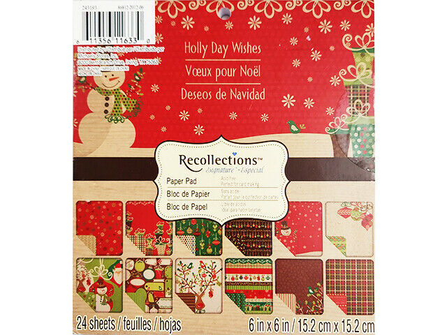 Recollections 6x6 Inch Holly Day Wishes Paper Pad #243193