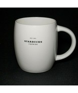 1 (One) STARBUCKS WHITE BARISTA Coffee Mug 14 oz. 2008 DISCONTINUED - $21.77