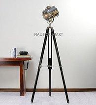 NAUTICALMART DESIGNER FLOOR STANDING NICKEL FINISH SILVER METAL TRIPOD FLOOR LAM - $197.01