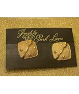 Park Lane Vintage Gold Plated Clear Crystals Clip Earrings - Signed Park... - $8.41