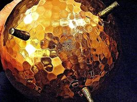 Copper Cauldron Cauldron with Metal Handle RIO TIEL AA19-1505 Antique image 6