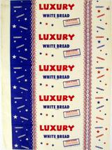 Vintage bread wrapper LUXURY WHITE BREAD Portland Oregon unused new old ... - $8.99