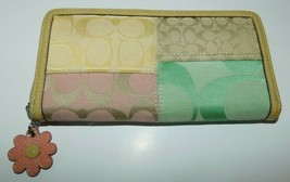 Coach Patchwork Signature Daisy Full Size Wallet - $44.99
