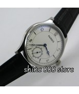 Parnis 44mm White dial Blue hands  6498 hand winding movement Men's watch - $107.49