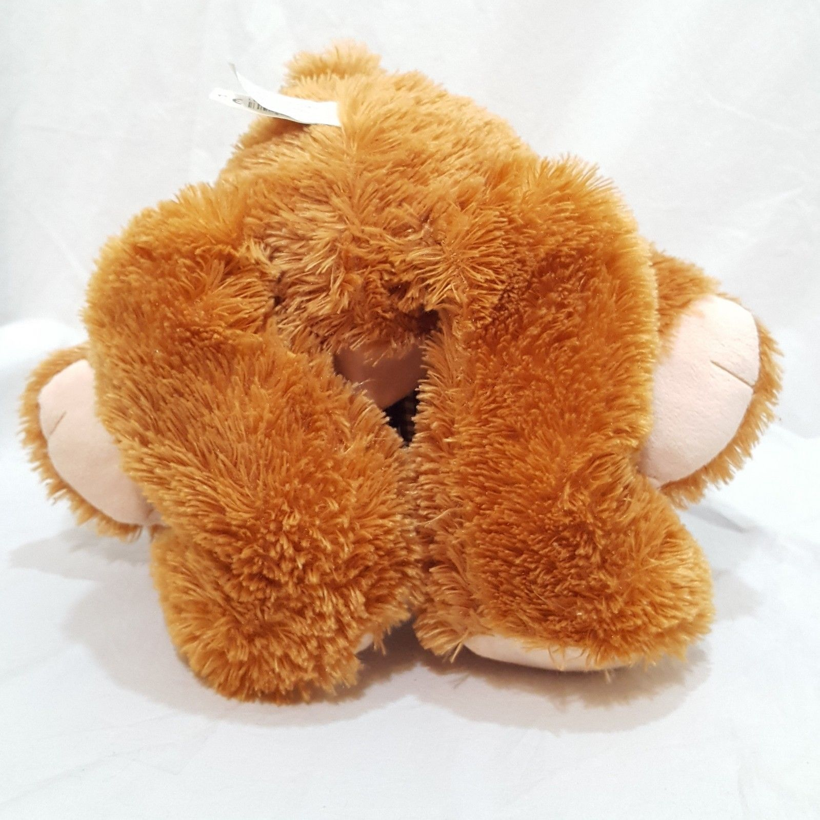 "Brown Teddy Bear Plush Stuffed Animal 22"" Classic Toy Co Plaid Bow"