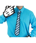 Computer Video Game 8 Bit Pixel Blue & Black Costume Necktie COSPLAY NEW... - $10.69