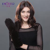 Women Genuine Leather Fur Gloves Fashion Style Winter Warm Mittens Solid... - $98.90