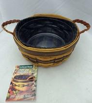 Longaberger - 1998 Collector's Club Renewal basket w/protector & liner -... - $14.85