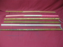 Vintage LOT Of 6 Wooden Yard Sticks Advertising Includes 2 Folding Yard ... - $39.59