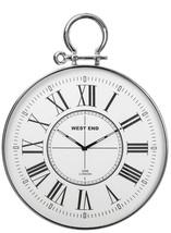 Silver Metal Wall Clock Home Room Indoor Decor Display Modern Round Quar... - $154.40