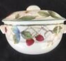 Mikasa Intaglio Strawberry Fair Sugar Bowl With Lid - $33.91
