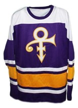 Custom Name # Prince Musician Hockey Jersey New Sewn Purple Any Size image 1